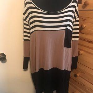 REBORN J striped color block tunic